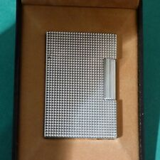 ST Dupont Line 2 Small Lighter Silver Plated Diamond Point - Boxed