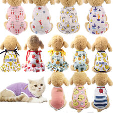 Printed Pet Small Dog Clothes Summer Dog Vest Breathable Puppy Cat Dress T-Shirt