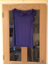 Oasis Bright Blue Size M Frilly Sleevesless Top