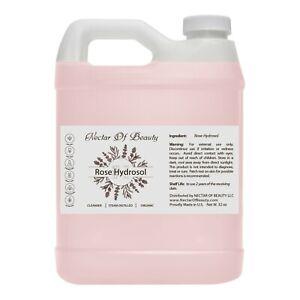 Rose water hydrosol facial cleanser toner quart from Bulgaria 100% pure non-gmo