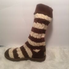 Ugg Australia Classic Striped cable knit boots Size 8