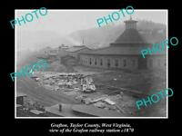 OLD LARGE HISTORIC PHOTO OF GRAFTON WEST VIRGINIA, THE GRATON RAILWAY c1870