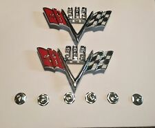 64 65 66 67 68 69 70 71 72 73  NEW IMPALA CUSTOM 383 FLAG EMBLEMS **U.S.A MADE**