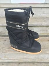 NEW Men's BOGNER SNOW BOOTS 41-43 Fleece Lined Insert Black Waterproof