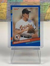 SHIPS SAME DAY 1991 Donruss Baltimore Orioles Baseball Card #238 Mark Williamson