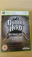 GUITAR HERO METALLICA BY ACTIVISION BRILLIANT MICROSOFT XBOX 360 GAME PAL