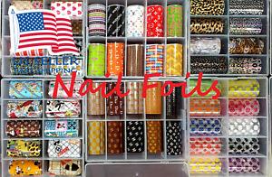 Nail Foils Transfer Decals Sticker 10pcs BAG