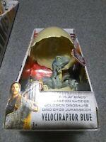 JURASSIC WORLD Hatch 'N Play Dinos Egg VELOCIRAPTOR BLUE Dinosaur Figure Mattel