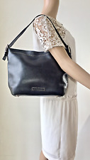 BCBGMAXAZRIA, Black Leather Purse, Shoulder Bag,footed purse