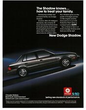 1986 Dodge SHADOW Charcoal Gray 4-door Sedan Vintage Ad