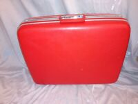 "Vintage Samsonite Silhouette Pullman 24"" Luggage Suitcase Venetian Red With Key"