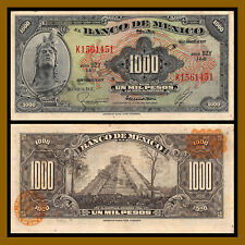 Coins & Paper Money 1948 Mexico 1 Peso Paper Money