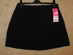 BLACK MINI SKIRT-SCHOOL WORK FANCY DRESS - CHOICE OF LADIES SIZES - BNWT