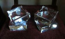 2 Large Double Square Baccarat Arik Levy INTANGIBLE Candlesticks