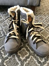 BARNEYS NEW YORK Shearling Lined Lace Up HighTop Sneaker Sz8.5 WinterBoots $295