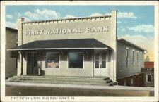 Blue Ridge Summit PA First National Bank c1920 Postcard jrf