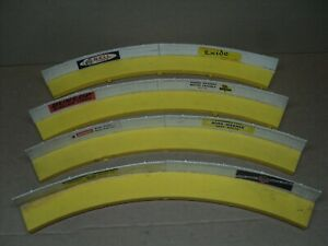 AURORA A-JET #3221 yellow & white SPIN-OUT SHOULDERS 1/32 Scale Slotcar Layouts