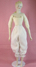 "3 pr. Doll Bloomers for 20""-28"" Slim Dolls Fit 24"" China head, 28"" Eegee"