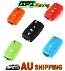 for VW Key remote Silicone Case Cover Golf Polo Boro Beetle Touran MK4/5 GTI*