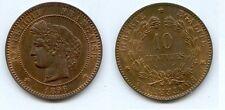 **Gertbrolen 10 Centimes Type Cérès 1896  Faisceau Numéro 2  Sup à Fleur de Coin