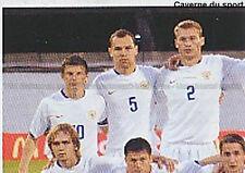 N°437 VIGNETTE PANINI EQUIPE 1/4 RUSSIA EURO 2008  STICKER