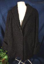 Vintage 40s Black  DUPLERS Salt Lake City Denver Persian Lamb Swing Coat Size M