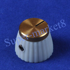 "20pcs Marshal Style Guitar Amp Volume Control Knob With Gold Top 1/4"" Cream/Gray"