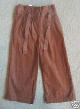 BNWT NEXT Tan Brown Paperbag Waist Cord Trousers 18-24 Months