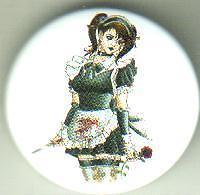 Evil Maid pin badge emo punk goth gothic
