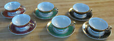 COLLECTIBLE DEMITASSE CUP + SAUCER SET-LOT OF 6 CUPS+SAUCERS-ROYAL CROWN-VINTAGE
