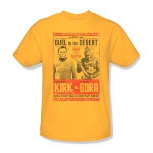 Star Trek Kirk vs Gorn T-shirt Free Shipping original TV series cotton cbs1112