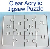 Clear Acrylic Jigsaw Puzzle Impossible EASY 12PC 4x6