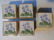 Lot of 5 Lenox Gold Trimmed Trinket Boxes for Rings, Jewelry. Violet Covered Box