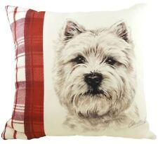 Evans Lichfield lindo perro westie Reversible Rojo a cuadros Cojín Relleno