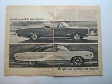1966 Pontiac GTO, Catalina 2+2, Tempest Sprint vintage 66 ad from private estate