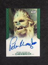 Topps Star Wars Chrome Perspectives Autograph Peter Mayhew As Chewbacca