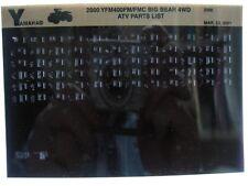 Yamaha YFM400 2000 Big Bear 4WD YFM400FM FMC Parts List Manual Microfiche s28