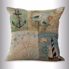 US SELLER- sealife marine nautical light house anchor cushion cover pillows