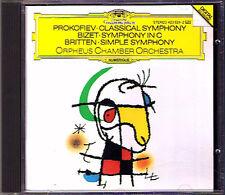 ORPHEUS CHAMBER ORCHESTRA: PROKOFIEV BRITTEN BIZET Simple Symphony Classique CD