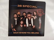 "38 SPECIAL ""Back Where You Belong"" PICTURE SLEEVE ONLY! NEW! ONLY NEW COPY eBAY!"