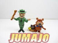 FIG57a lot 2 figurines PVC comics spain YOGI BEAR  OURS : Bubu + ranger 5/7cm
