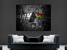 PINK FLOYD TYPOGRAPHY  DIGITAL  ART WALL LARGE IMAGE GIANT POSTER !!