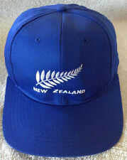 New Zealand Embroidered Blue Baseball Cap Trucker Hat Vintage RARE NEW w/o Tags