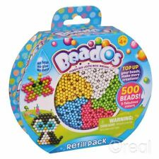 New Beados 500 Beads Refill Pack 5 Colors No Heat No Glue No Mess Official