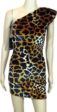 Brian Lichtenberg, Womens Single Sleeve Leopard/Cheetah Print Dress, Medium