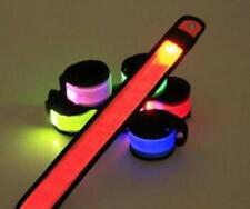 LED SLAP Bracelet Band Night Light Safety for Ankle Arm Running Walking Cycling