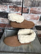 Beach Feet 100% Suede Tan/Brown Wool Lined Ankle Boots Size UK 4 NEW