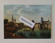 Ansichtskarte/Postcard: Zürich - Limmat mit Wellenberg - Bauschänzli //31/275
