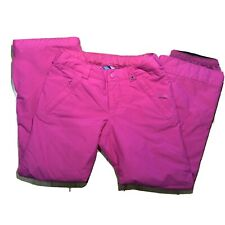 Burton Ski Snowboard Snow Pants Youth Sz M (10/12) Pink extendable legs Girls
