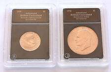 LOT OF 2  U.S UNCIRCULATED COINS 1976 EISENHOWER DOLLAR- 1999 SUSAN B. ANTHONY